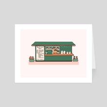 Flower Crown Coffee Shop - Art Card by Jean Mucks