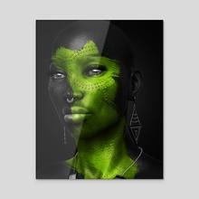 Onyx - Peridot - Acrylic by Rhayven Jones