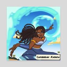 Caribbean Katara - Canvas by David Asimeng