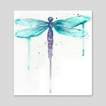 Dragonfly - Acrylic by Ursula Williams