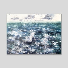 Sea No. 1 - Acrylic by Tomas Albergo