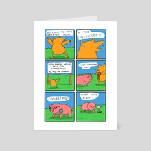 Best Pigs - Art Card by Greb Comics
