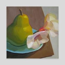 Pear and Magnolia - Canvas by Yuri Tayshete