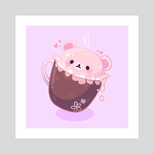Hot Chocolate Korilakkuma by Ashley Brielle