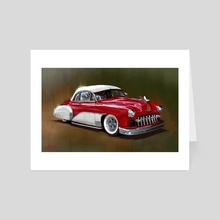 1949 Chevy - Art Card by Candra Hope