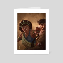 Liberty Punches Hate - Art Card by Claudio Pozas