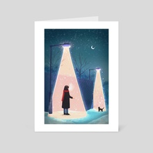 Winter night - Art Card by anbu 安否