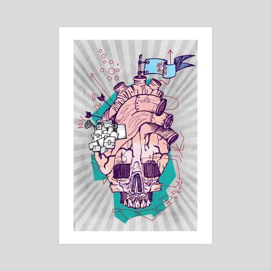 Skull heart by manu vila