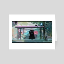 Bus Stop - Art Card by Ross Tran