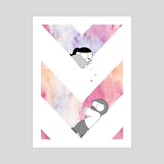 Graphic Watercolor - Pink by Catana Chetwynd