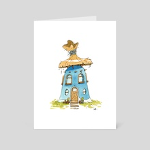 Thatched House - #09 - Art Card by Louise Bagnall