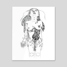 Butterflies in the Stomach, 2018 - Acrylic by Yhel Ferrer
