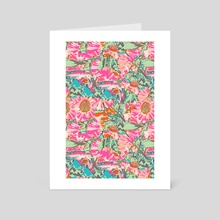 Pink Sunflower - Art Card by 83 Oranges