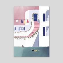 Mykonos - Acrylic by Zoe Tischner