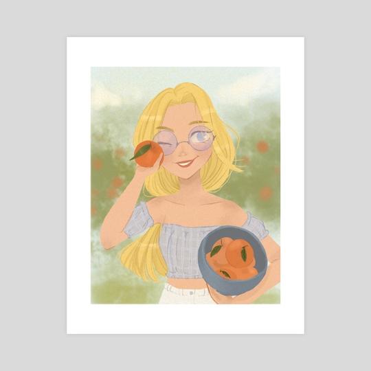 Orange Picking by Alison Chan