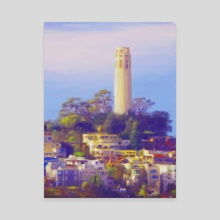Coit Tower - Canvas by Tom Carlos