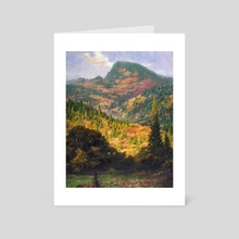Autumn in the Oregon Coast Range - Art Card by Jordan K Walker
