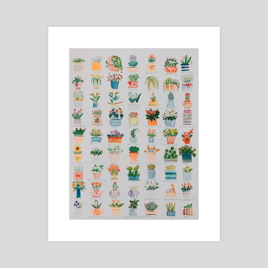 Plants and Pots by Titsay