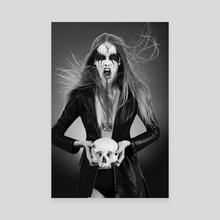 Black Metal Barbie II - Canvas by Antonella Arismendi