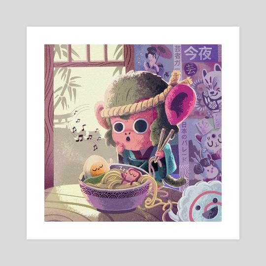 My ramen is alive by Rod Perich