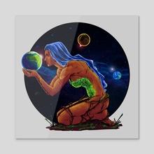 The Goddess of Life - Acrylic by Natalia Ponarina