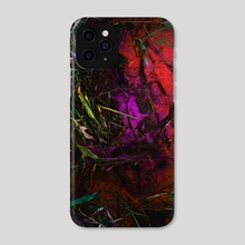 oil+water [red] - Phone Case by amanda herz