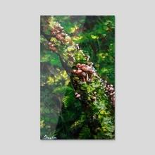 Mushrooms - 8 - Acrylic by Sonecta