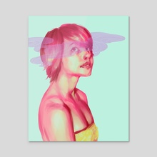 Clouded Eyes - Acrylic by Erica Feld