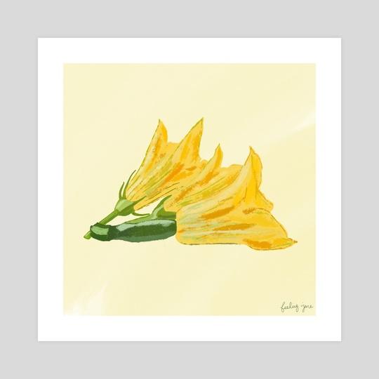 zucchini flowers by feeling jane