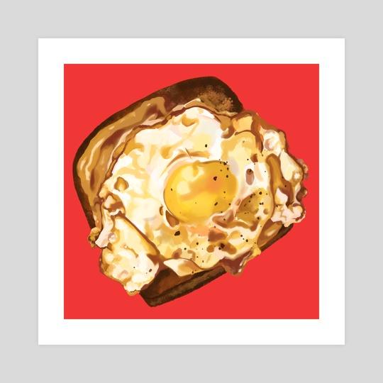 Egg on Toast by vanillapuffpuff