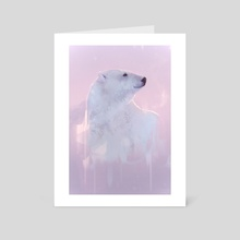 Polar Bear - Art Card by Frankie Perez