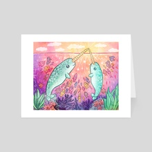 Narwhal Magic - Art Card by My Zoetrope