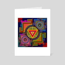 Paw Yantra - Art Card by Anuradha Grover