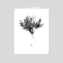 Centaurea cyanus. T_Druzhinina, 2019 - Art Card by Tatiana Druzhinina