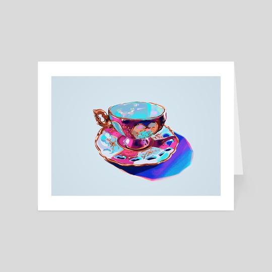 Tea Cup I by Meyoco