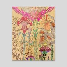 Mǔdān Garden  - Acrylic by Sarie Tardif