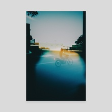just riding - Canvas by Sean Poitras
