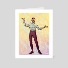 Steve Urkel - Blackology - Art Card by Ladislas Chachignot