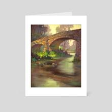 Pope Street Bridge by V.P. Shkurkin - Art Card by Katya Shkurkin