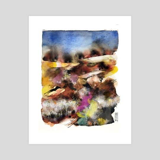 Abstract Tuscan landscape by Alessandro Andreuccetti