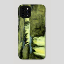 Impressionist View of Low Force Waterfall - Phone Case by Dominic Wade