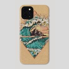 Pixel ocean - Phone Case by Jason MOK