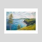Cape Breton South Highway - Art Print by Garth Laidlaw