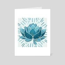 Blue Blossom - Art Card by Modern Tropical