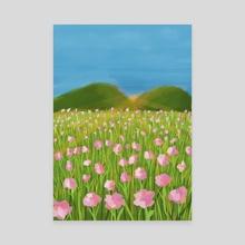 Hydrangea Flower Field - Canvas by nezart. gallerystudio