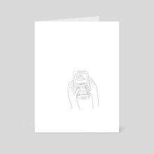 needy hands - Art Card by simon plant