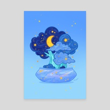 Night Bonsai - Canvas by Siny Cath