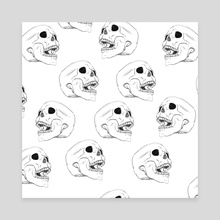Laughing  - Canvas by Erin  Rudling