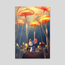 The Tiny Sorceress - Acrylic by Umair Najeeb Khan