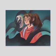 No Face Chihiro - Canvas by Ryan Ahmad y